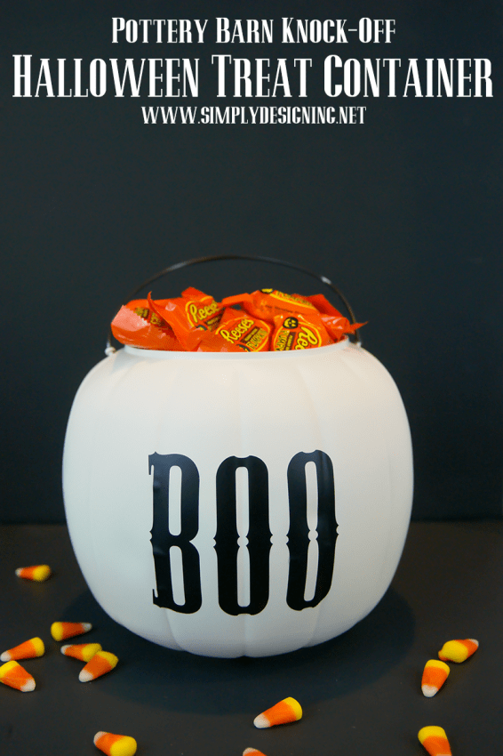 Halloween Treat Containers : Pottery Barn Knock-Off  #halloween #crafts #potterybarnknockoff #fall