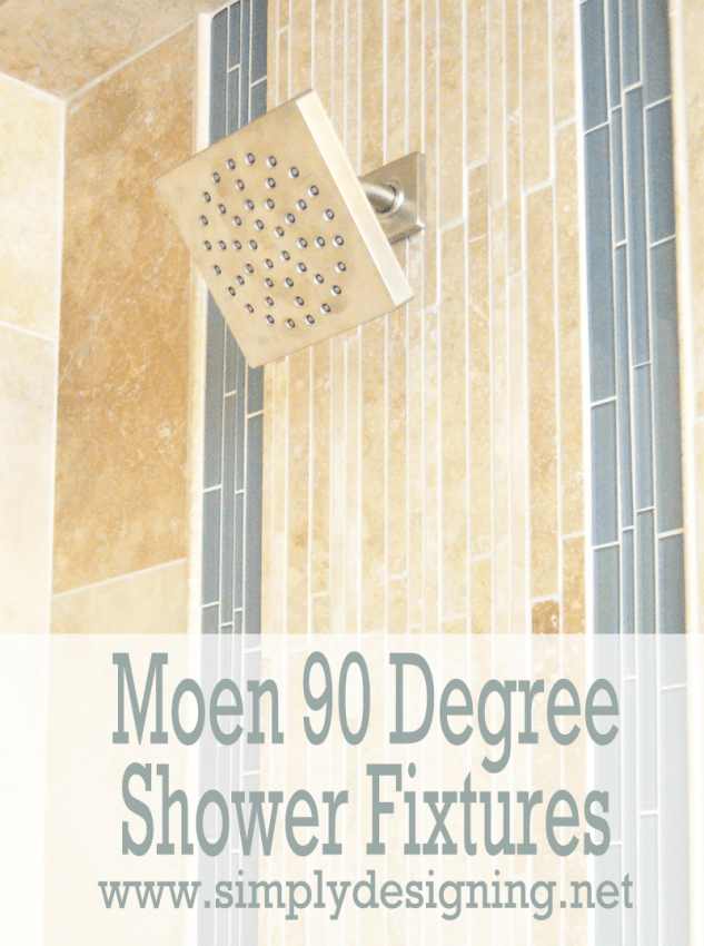 Moen 90 Degree Shower Head | #diy #bathroom #remodel