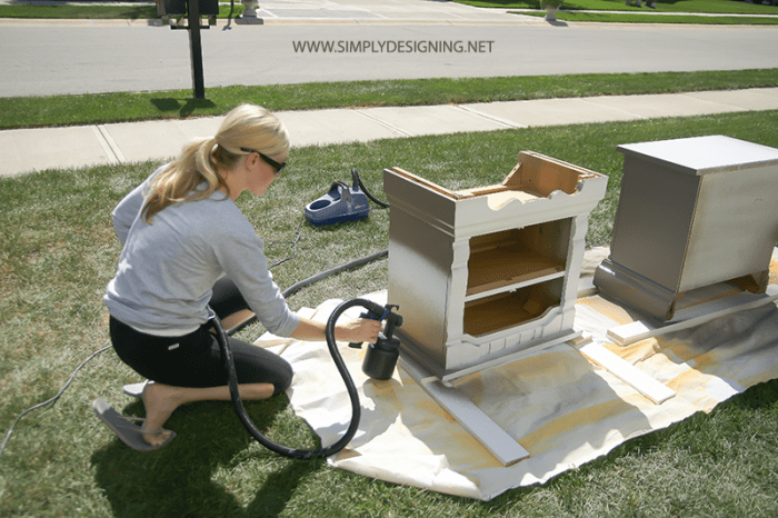 Spray Paint with Paint Sprayer  | #diy #paint #furniture