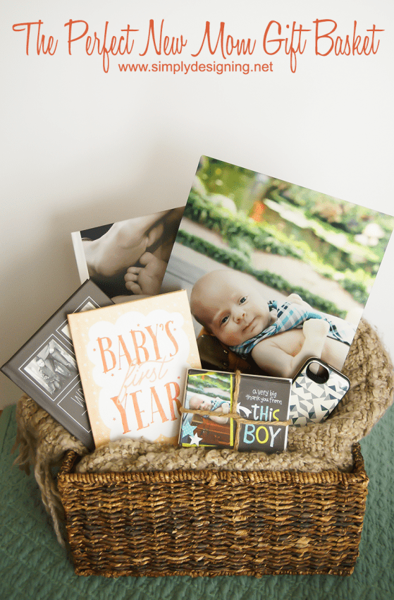 The Perfect New Mom Gift Basket | #gift #babygift #