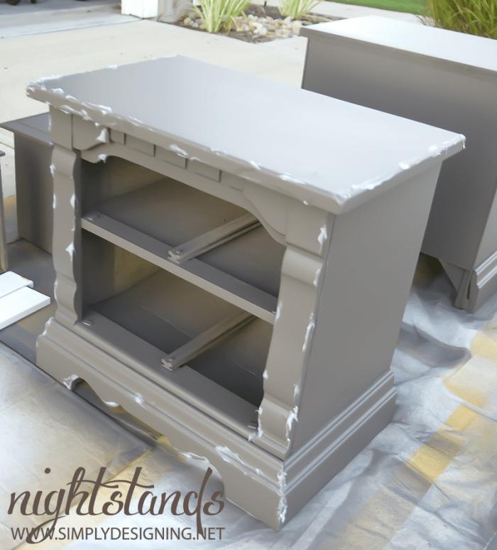 Apply Vaseline  | #diy #paint #furniture #chippypaint