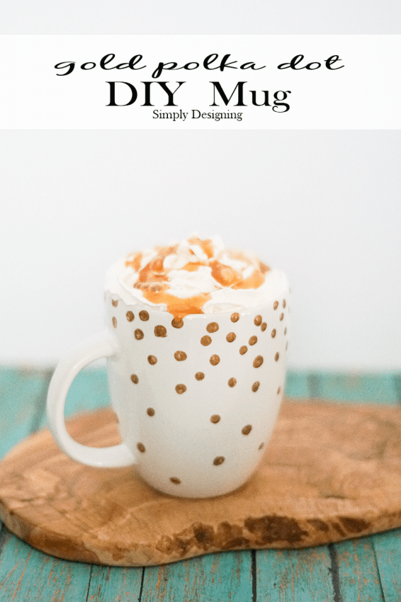 Gold Polka Dot DIY Mug
