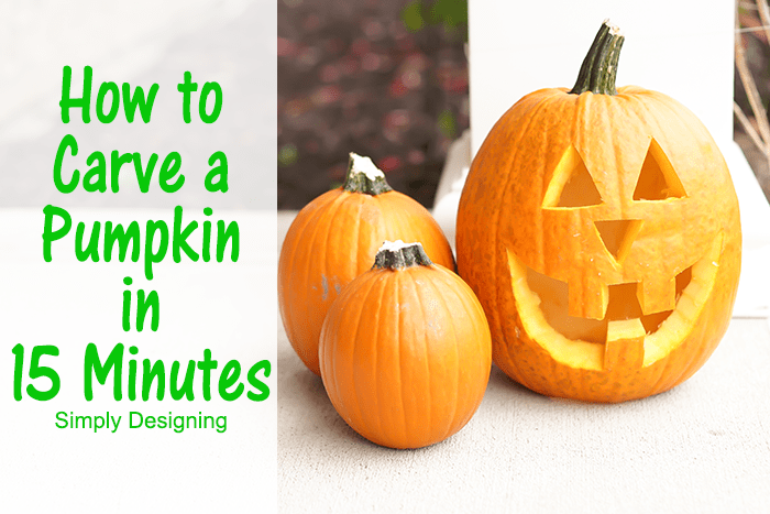 How to Carve a Pumpkin in 15 Minutes #Halloween #pumpkin #pumpkincarving #jackolantern #crafts