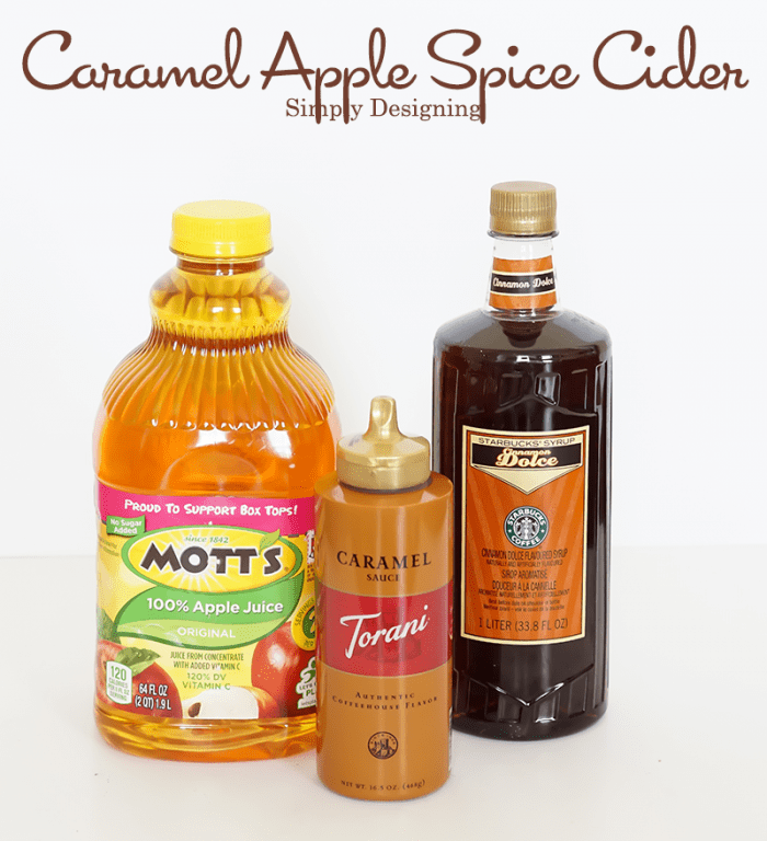 Ingredients for Caramel Apple Spice Cider #recipe #drinks #fall
