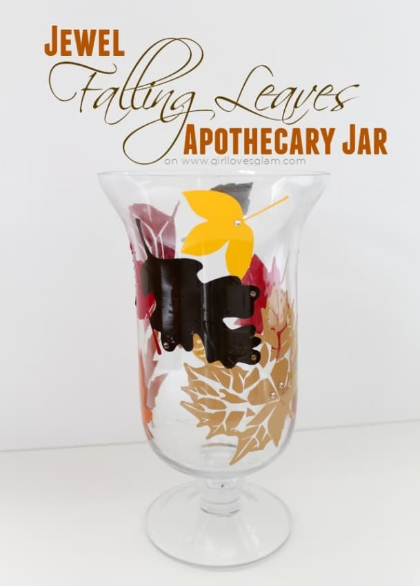 Jewel Falling Leaves Apothecary Jar