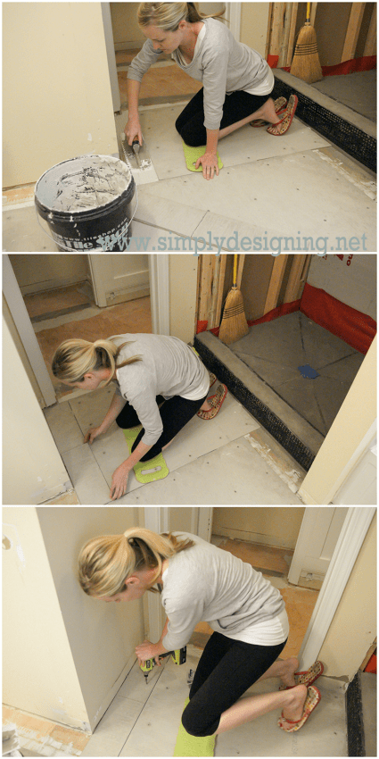 Master bathroom remodel part 7 how to install radiant - How do heated bathroom floors work ...