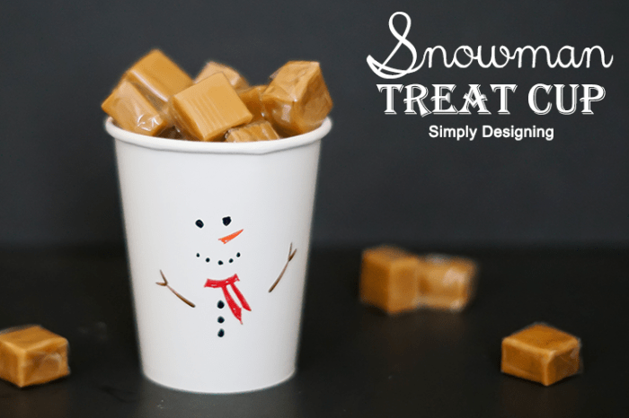 Snowman Treat Cup