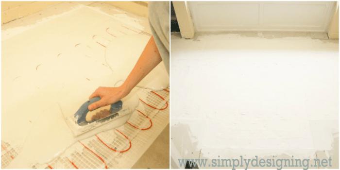Thin Set Over In Floor Heating