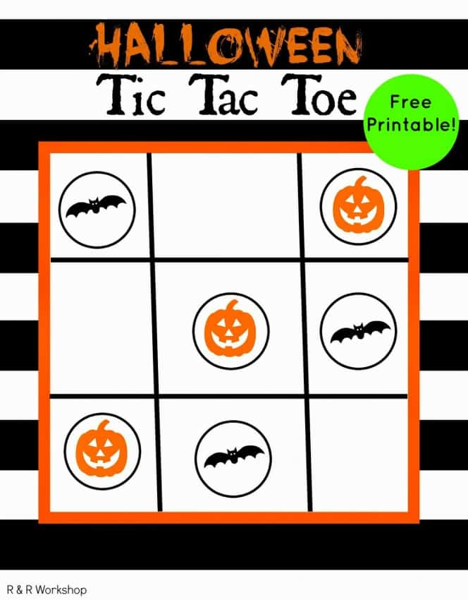 halloween tic tac toe game printable