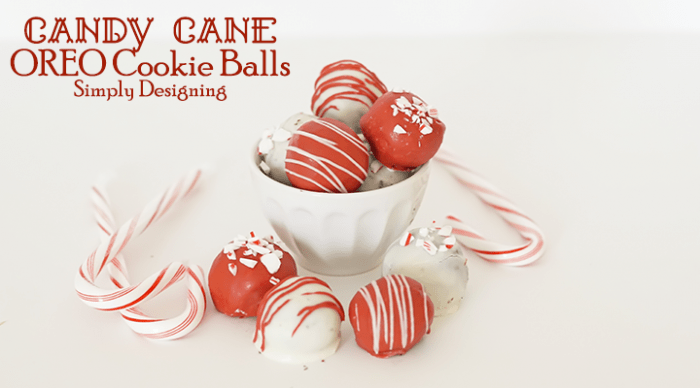 Candy Cane OREO Cookie Balls Featured Image