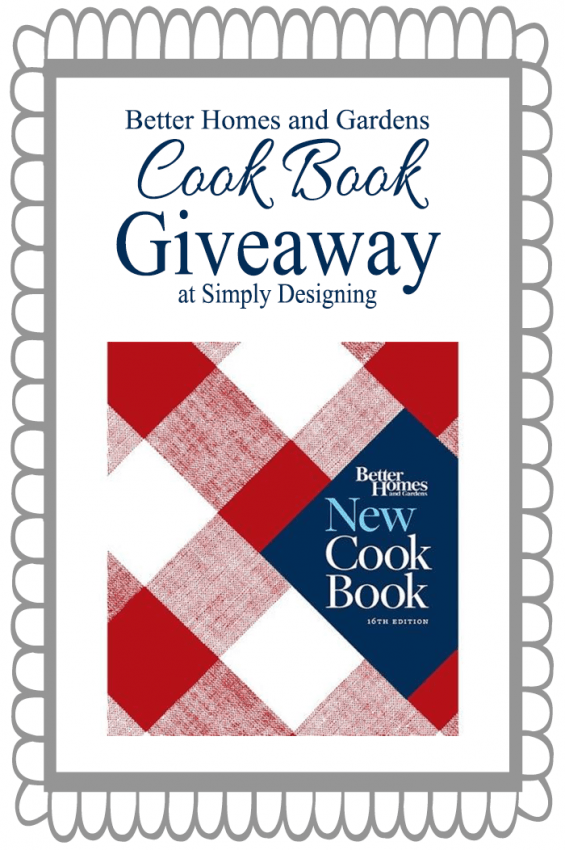 Better Homes and Gardens Cookbook Giveaway