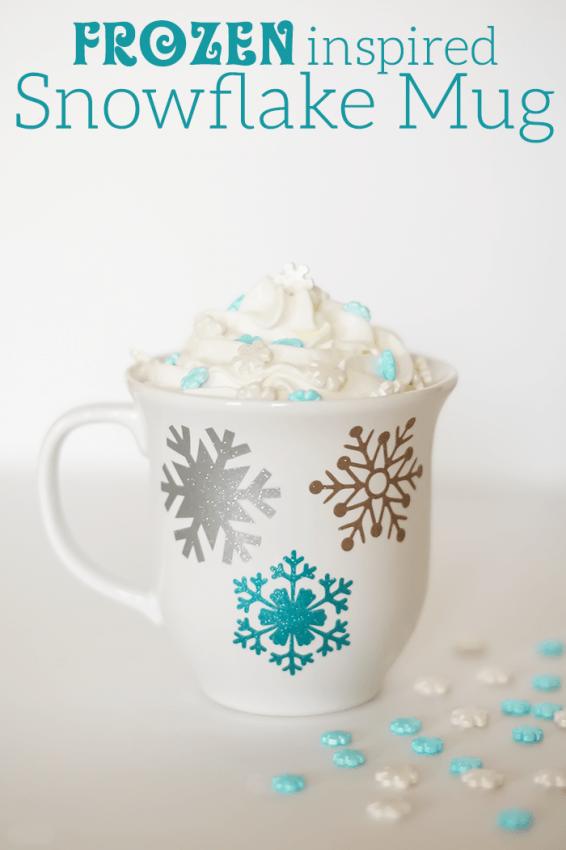 Frozen Inspired Snowflake Mug