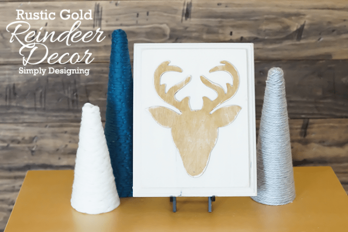 Gold Reindeer Decor