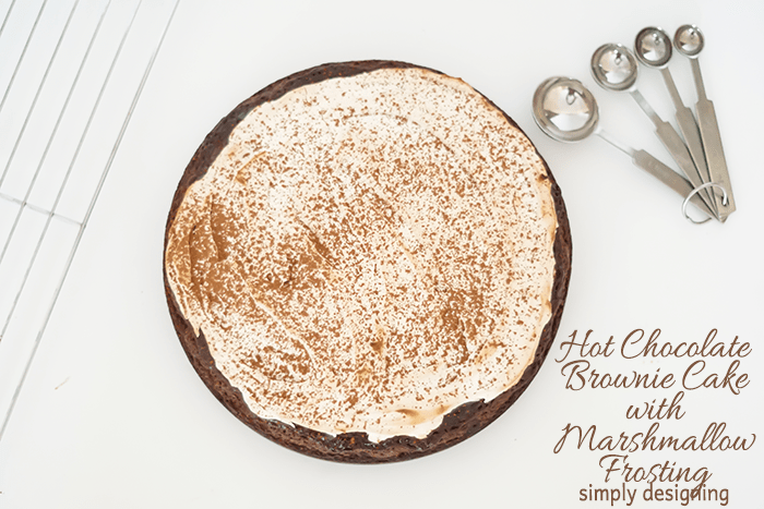 Hot Chocolate Cake with Marshmallow Frosting