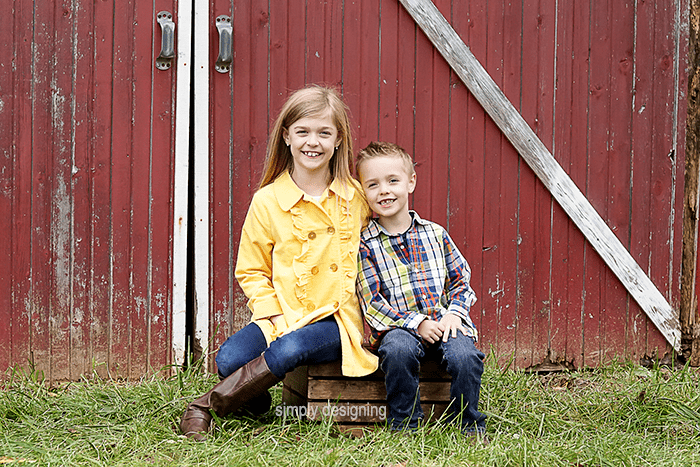 Kids on Wooden Crate