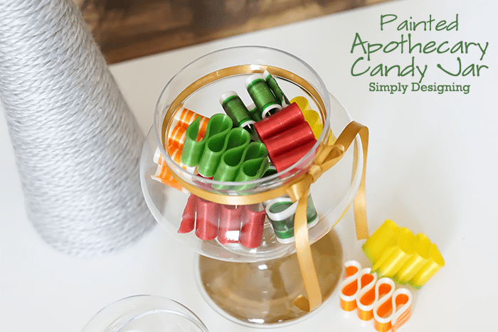 Ribbon Candy in Apothecary Jar