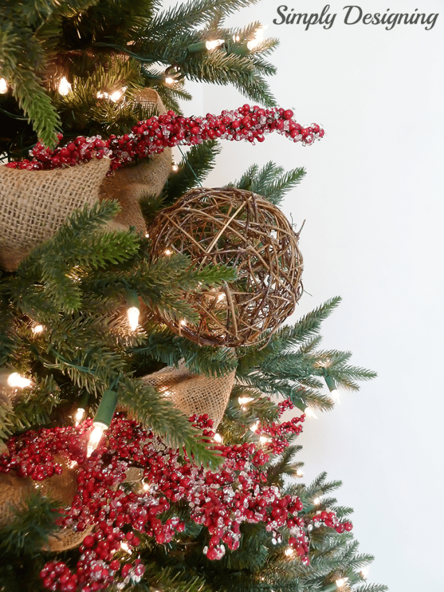 Twine Ball on Christmas Tree