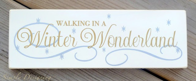Walking in a Winter Wonderland decor