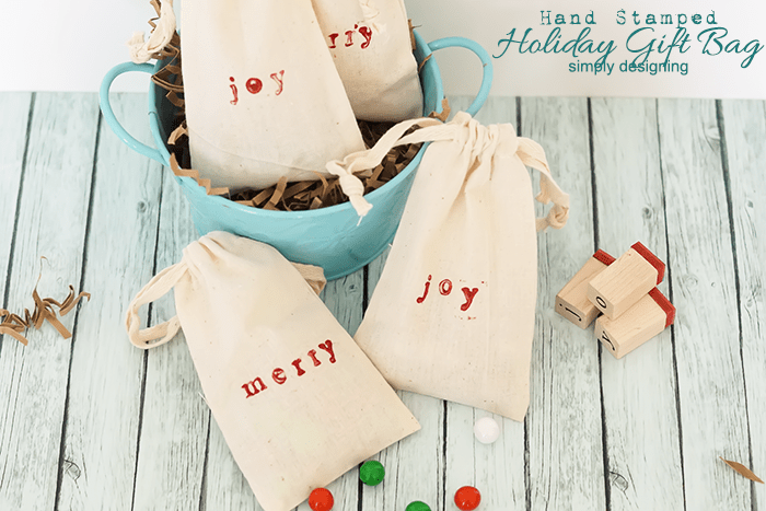 Handmade Holiday Gift Bag