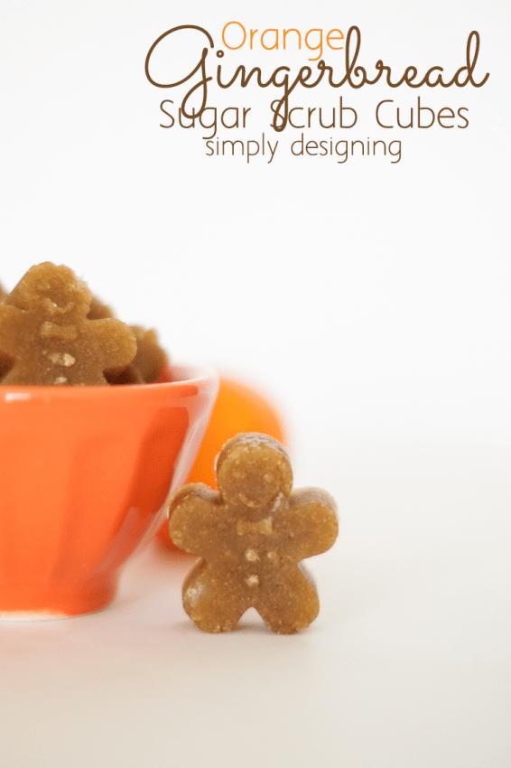 Orange Gingerbread Sugar Scrub Cube Men