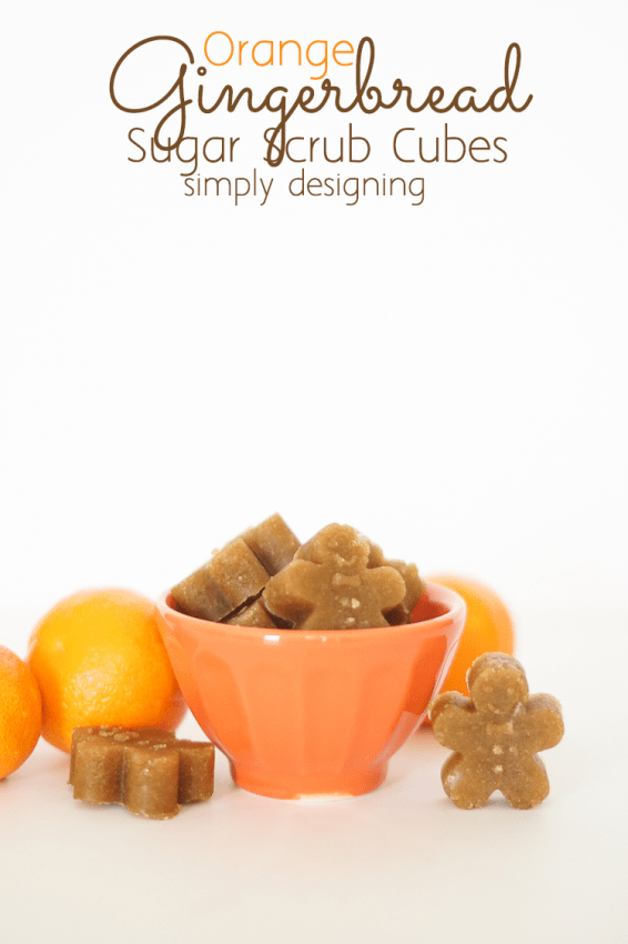 Orange Gingerbread Sugar Scrub Cubes