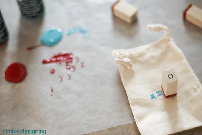 Stamp Muslin Bag