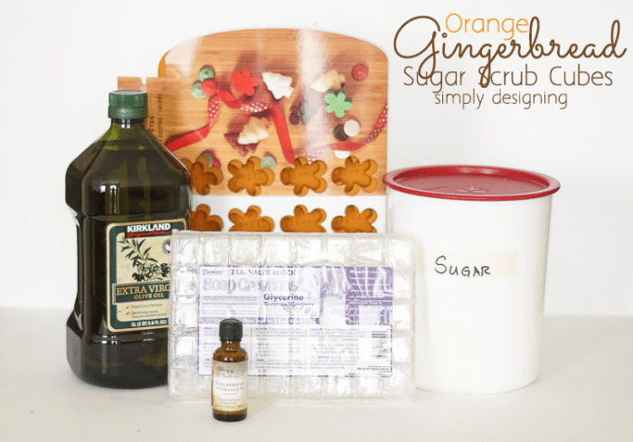 Sugar Scrub Cube Ingredients