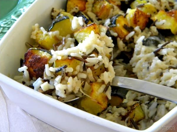 Acorn Squash and Wild Rice Casserole