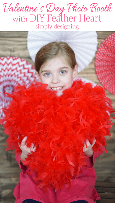 DIY Valentine's Day Photo Booth with DIY Feather Heart