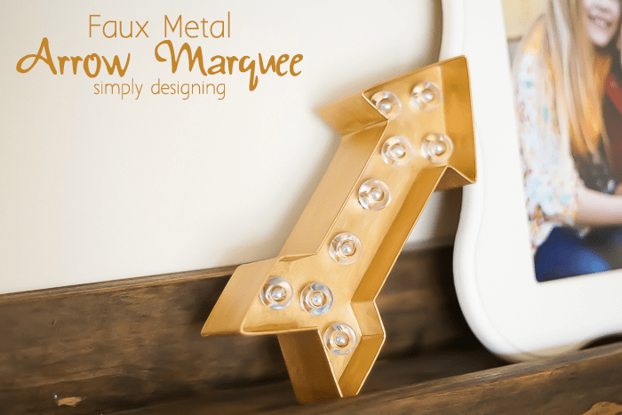 Faux Metal Arrow Marquee