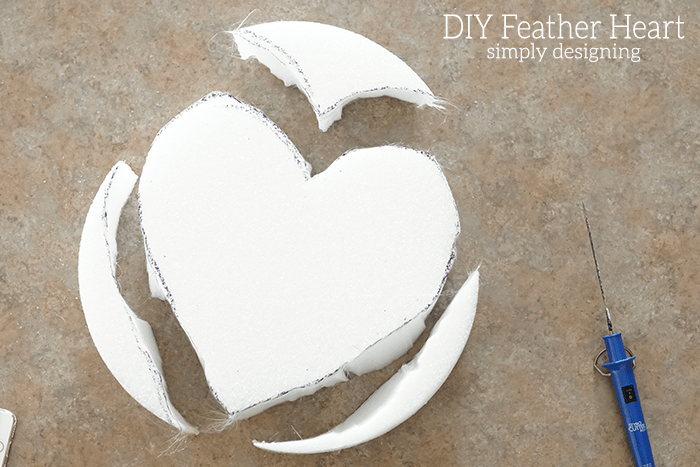 Heart Shape Styrofoam
