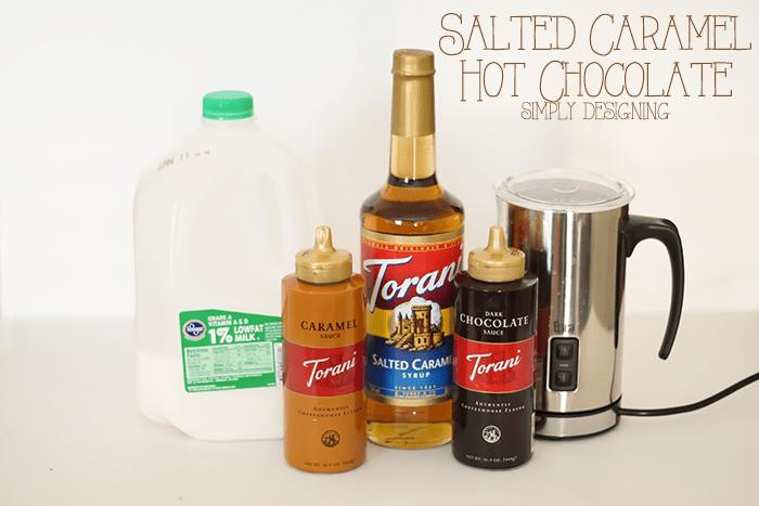 Salted Caramel Hot Chocolate Ingredients