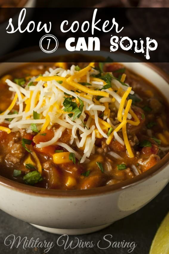Slow Cooker 7 Can Soup
