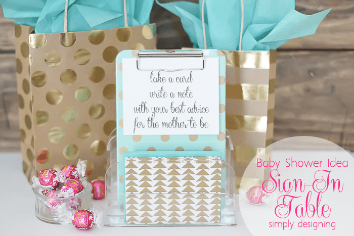 Baby Shower Idea - Advice for Mom
