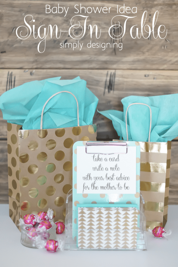 Baby Shower Idea - Sign in Table