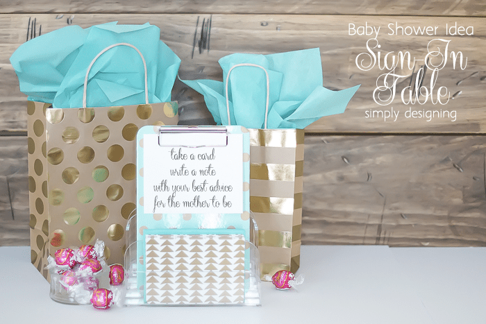 Baby Shower Idea - Welcome Table