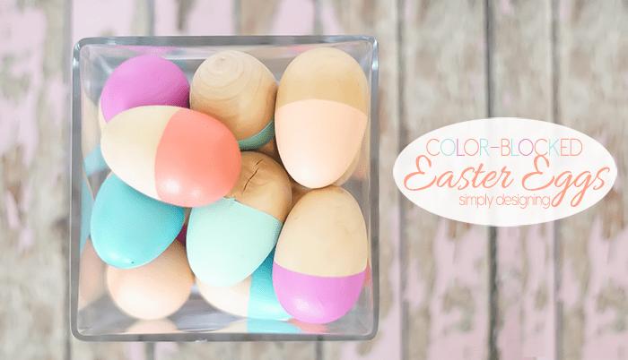 Color Blocked Easter Egg Decor