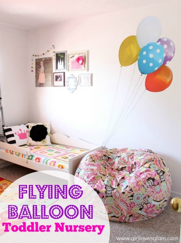 Toddler Bedroom with Balloons