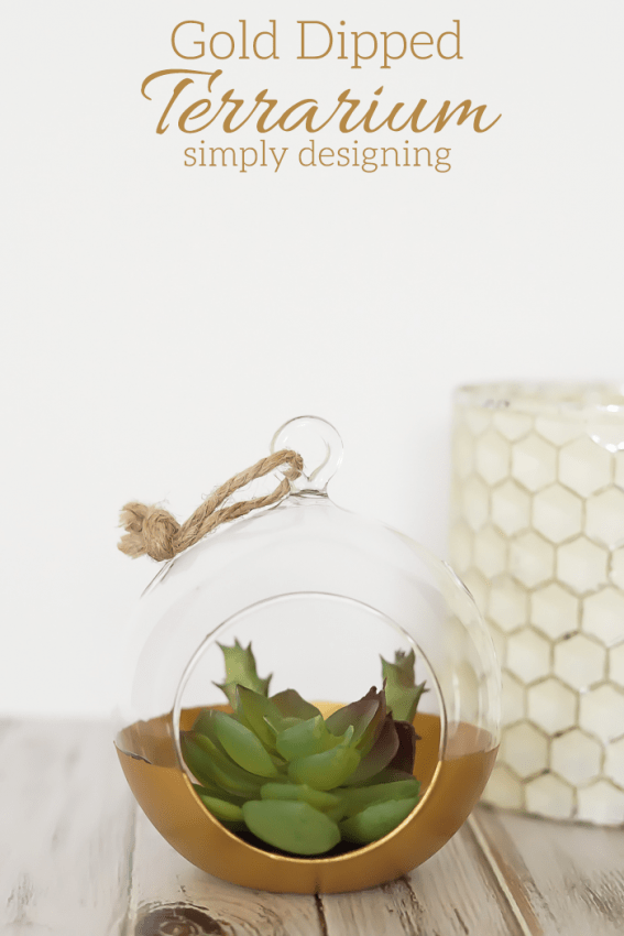 Gold Dipped Terrarium