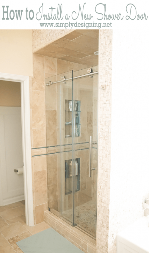 How To Install A New Shower Door - How to install bathroom door
