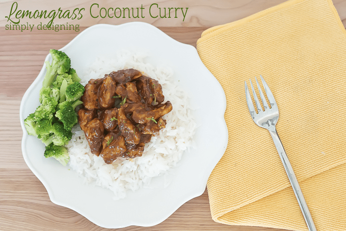 Lemongrass Coconut Chicken Curry