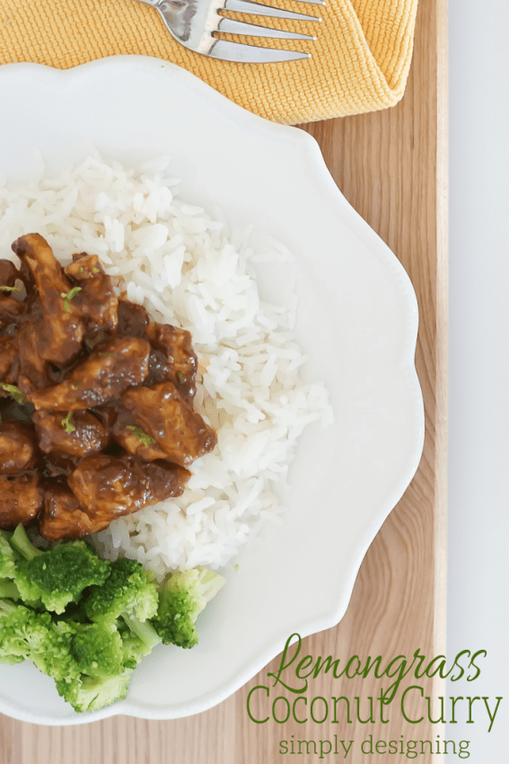 Lemongrass Coconut Curry with Chicken