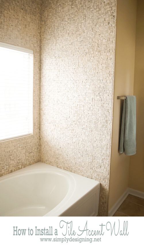 DIY Tile Accent Wall
