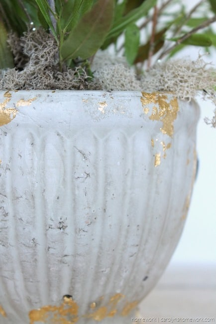 Gold Leaf Concrete Planter via homework (2)[3]