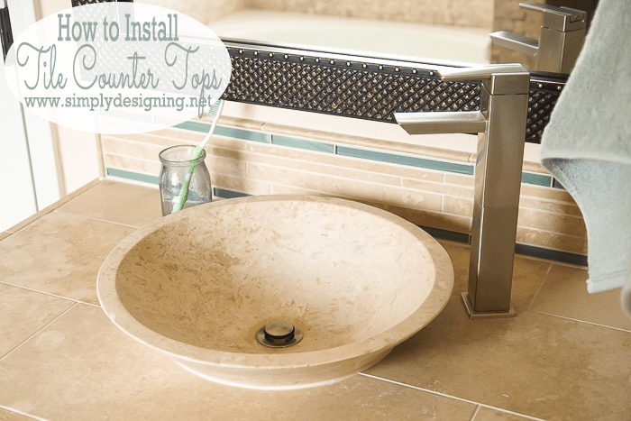 How To Install New Bathroom Tile Counter Tops