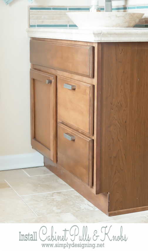 Install Cabinet Pulls and Knobs