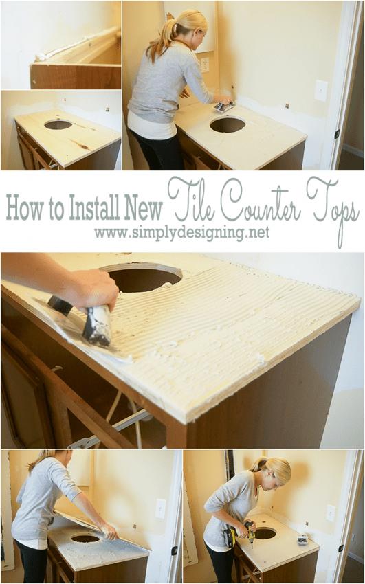 Install New Bathroom Counter Top Base