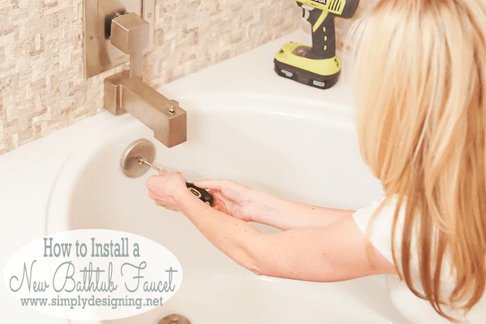 Install a Bathtub Faucet