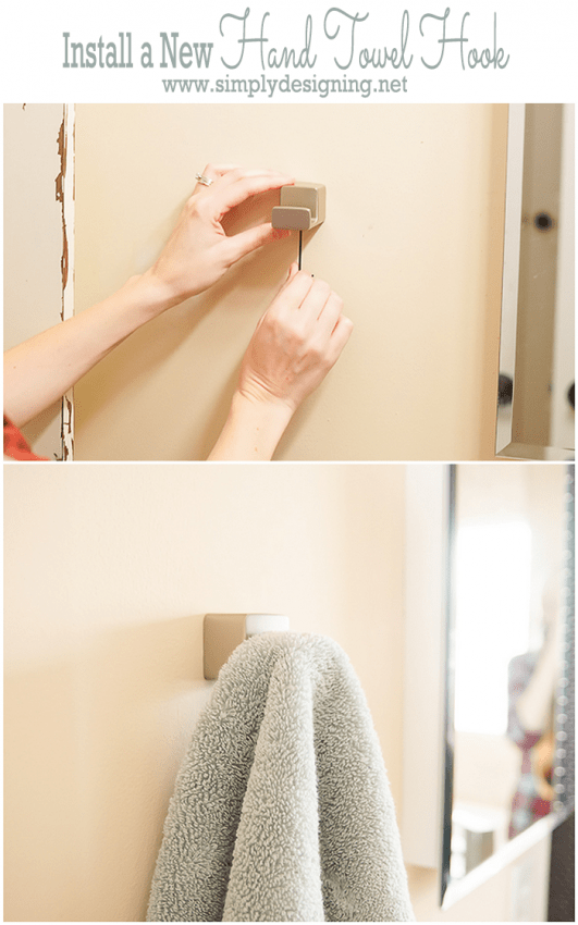 Install a New Hand Towel Hook