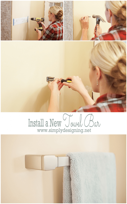 Install a New Towel Bar